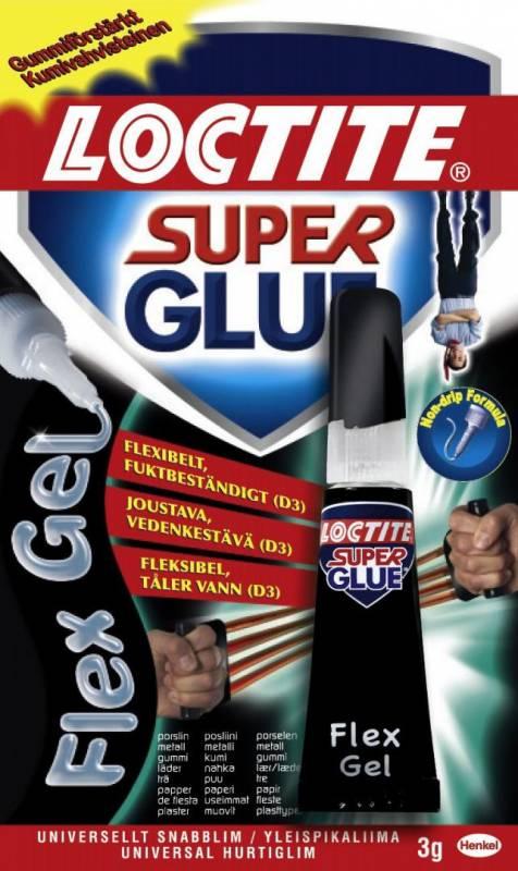 Billede af Lim Loctite Super Glue Power Flex lim 3g/tube