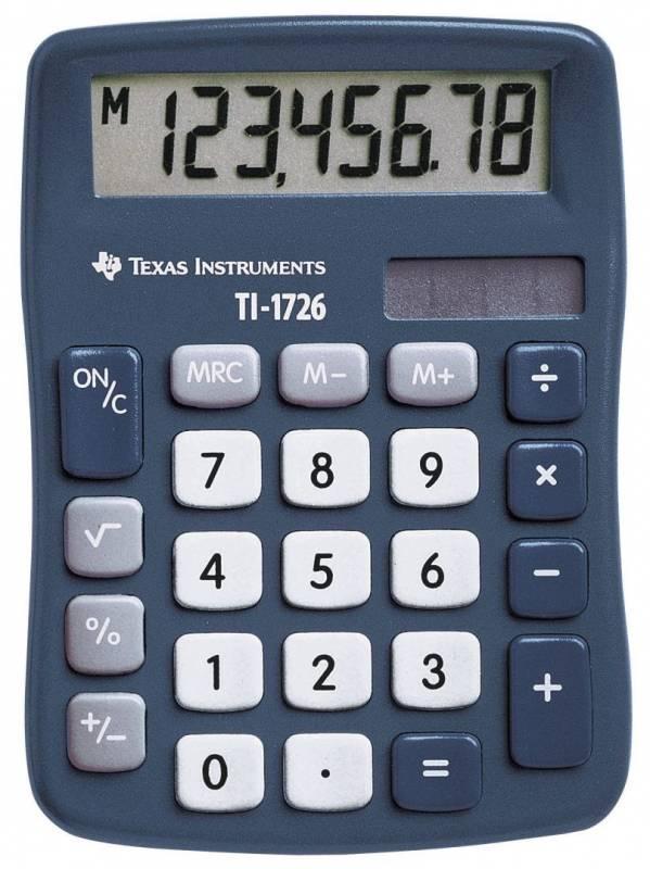 Billede af Lommeregner Texas TI 1726 skråtstillet 8-cifret display