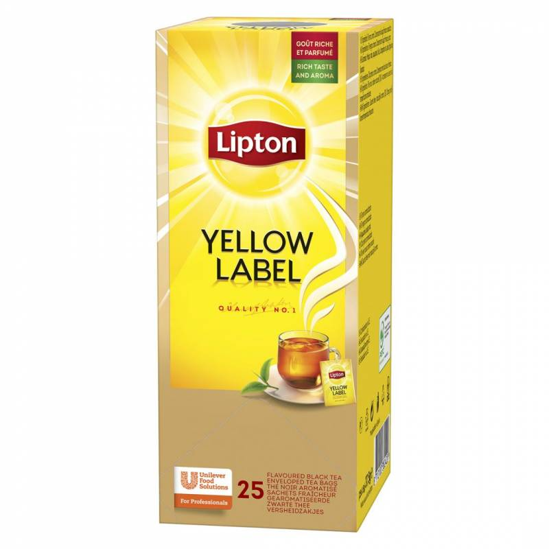 Image of   Te Lipton Yellow Label 25breve/pak (enkelt pakke)