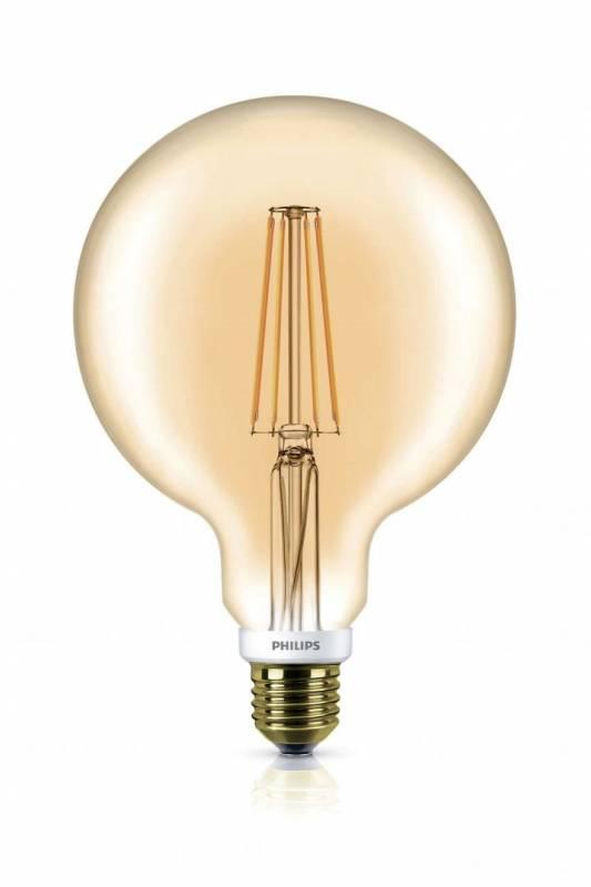 Billede af Pære LED Globe 7W (50W) E27 Classic G120 gold D