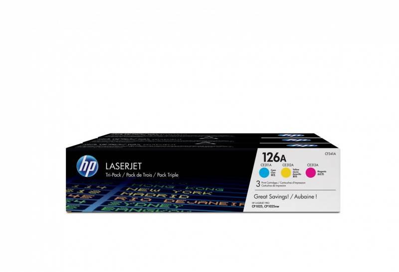 Billede af HP 126A Color Tri-Pack LaserJet Toner