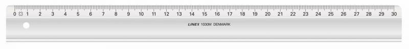 Billede af Lineal plast LINEX 30cm 1030