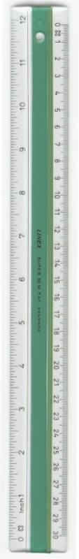 Billede af Lineal plast m/gummiskinne LINEX 20cm S20