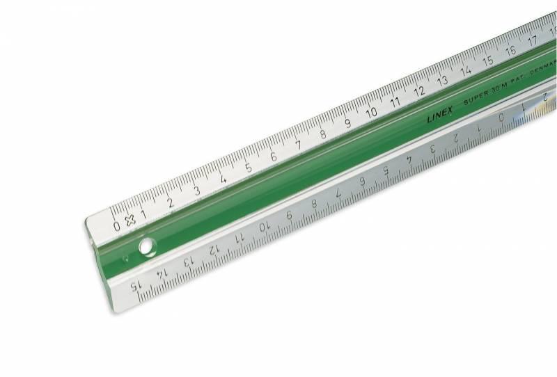 Billede af Lineal plast m/gummiskinne LINEX 30cm S30