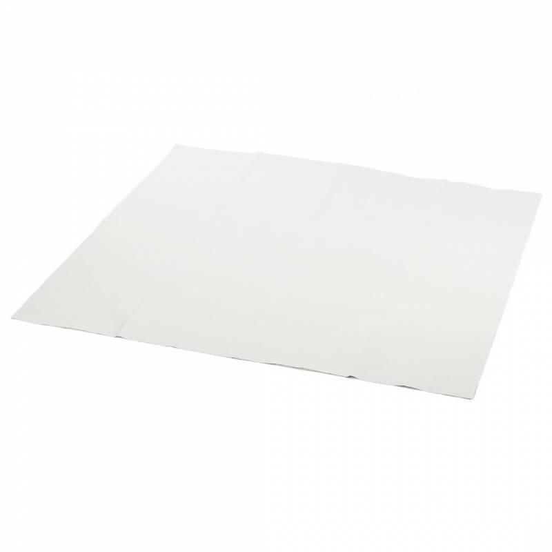 Billede af Stikdug papir m/PE-belægning hvid 100x100cm 25stk/kar