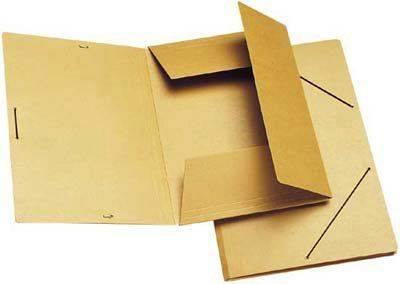 Image of   Dokumentmappe m/3 klapper og elastik brun A4