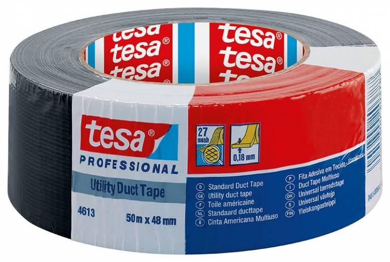 Image of   Tape tesa lærred sort 48mmx50m 4613 Duct tape 180