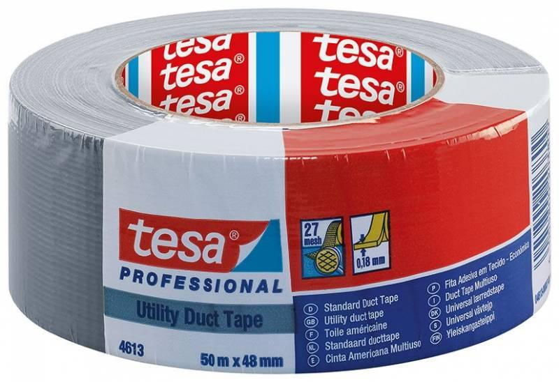 Image of   Tape tesa lærred grå 48mmx50m 4613 Duct tape 180