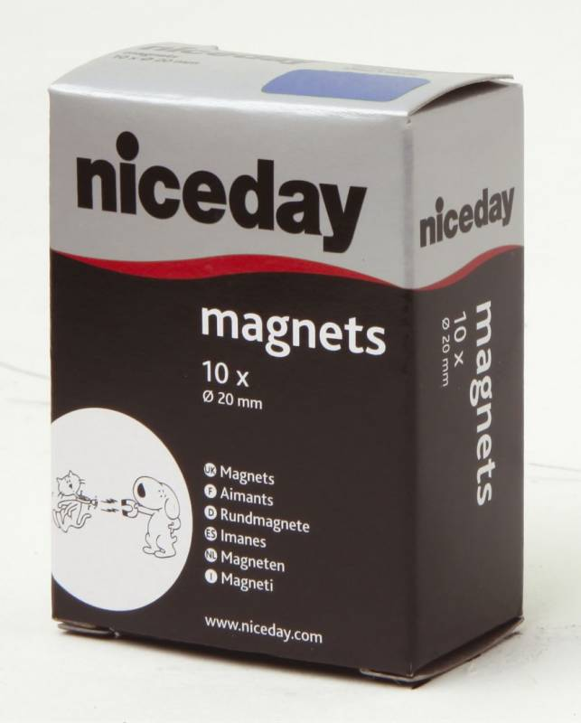 Billede af Magneter niceday blå Ø20mm 10stk/pak 980591