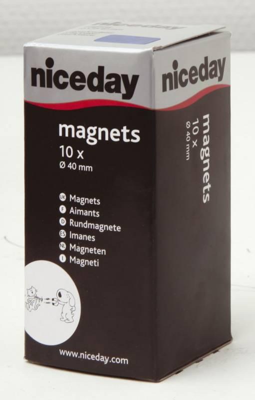 Billede af Magneter niceday blå Ø40mm 10stk/pak 980610