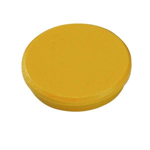 Image of   Magneter Dahle 32mm rund gul 10stk/pak bærekraft 0,8kg
