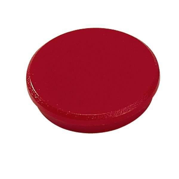 Image of   Magneter Dahle 32mm rund rød 10stk/pak bærekraft 0,8kg