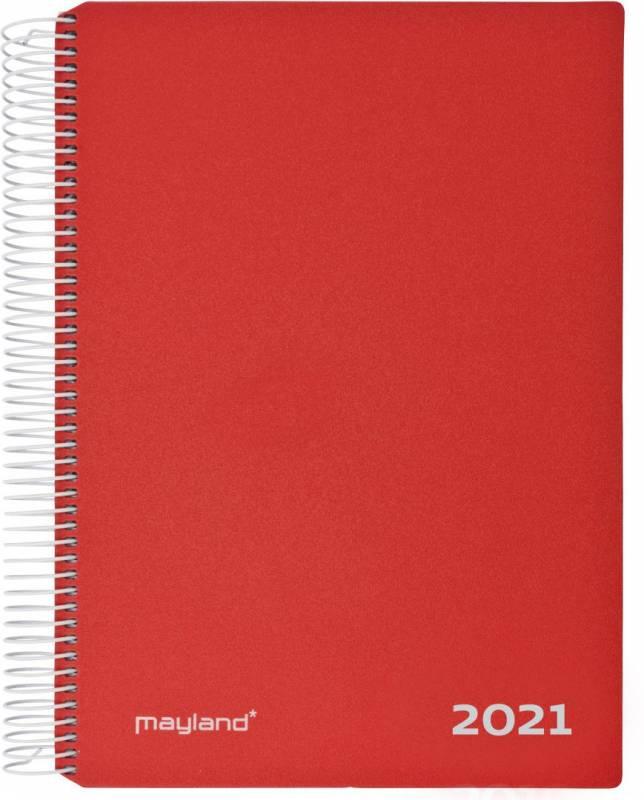 Billede af Timekalender m/spiral rød 17x23,5cm 21 2180 10 (2021)