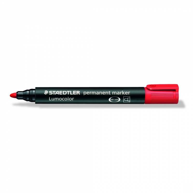 Marker STAEDTLER Lumocolor 352 permanent rød 2mm bullet 352-2