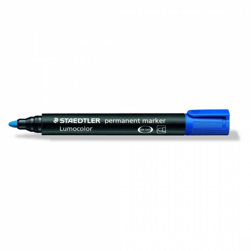 Marker STAEDTLER Lumocolor 352 permanent blå 2mm bullet 352-3