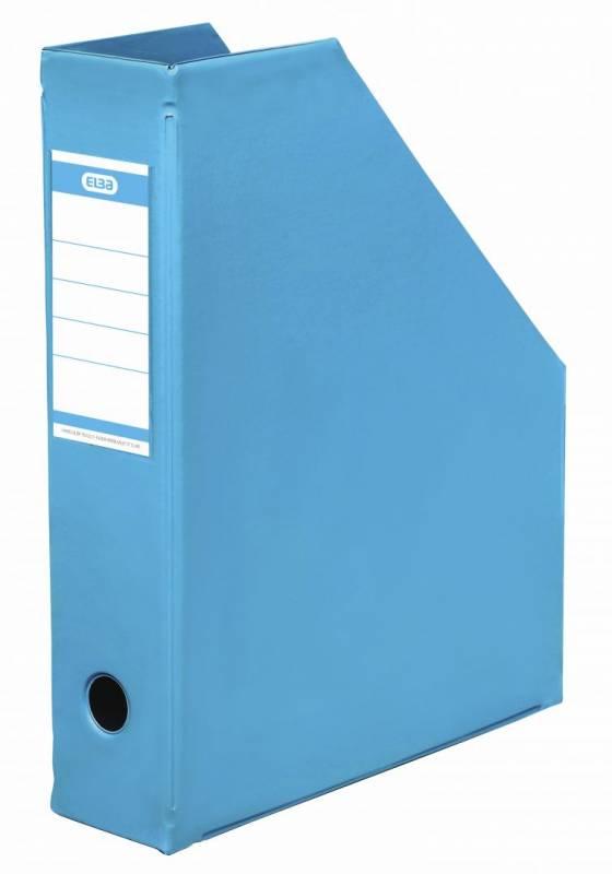 Billede af Tidsskriftskassette ELBA A4 maxi lys blå ryg:6,5cm