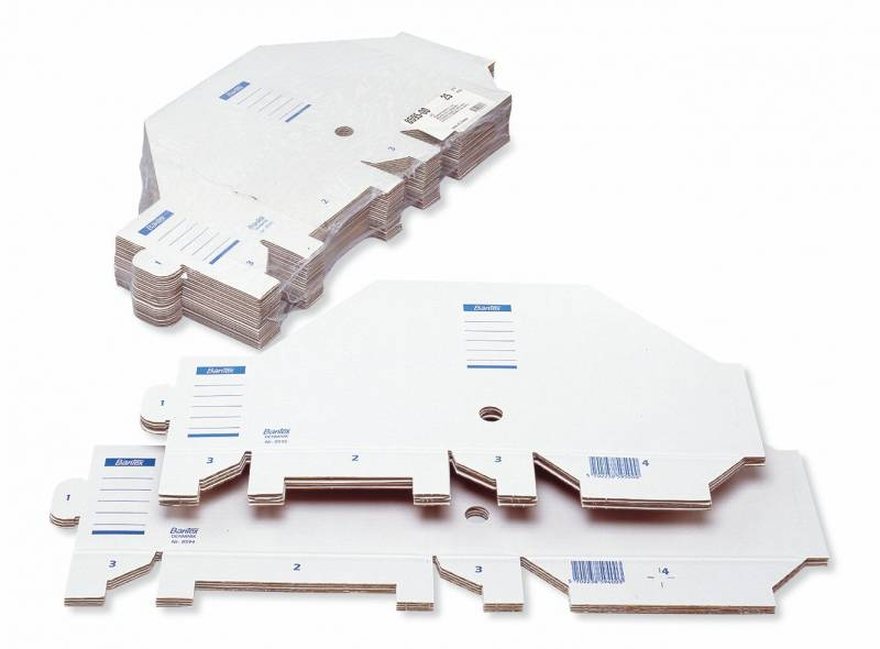 Image of   Tidsskriftskassette Bantex A4 bølgepap hvid ryg:7,5cm