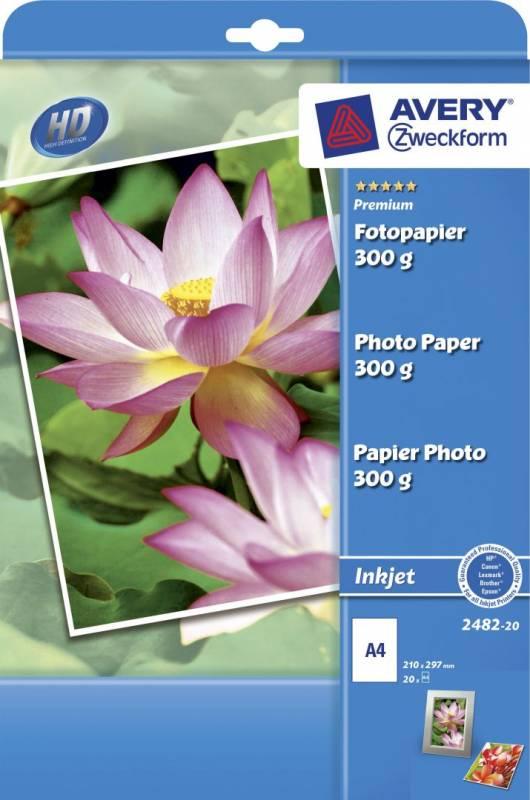 Image of   Fotopapir Premium plus A4 300g glossy t/inkjet pk/20 ark