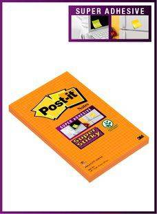 Image of   Post-it Super Sticky mødeblok 125x200mm 2blk/pak orange tern