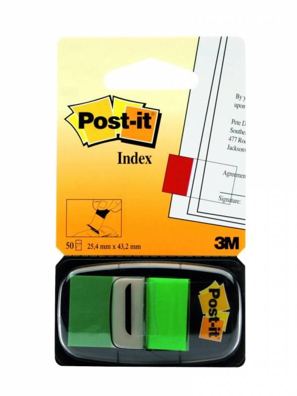 Billede af Post-it indexfaner 680-3 grøn 25,4x43,2mm 50stk/pak
