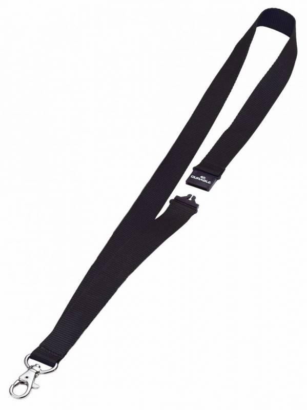 Image of   Halsbånd med sikkerhedslås i nylon krog af metal 10stk/pak