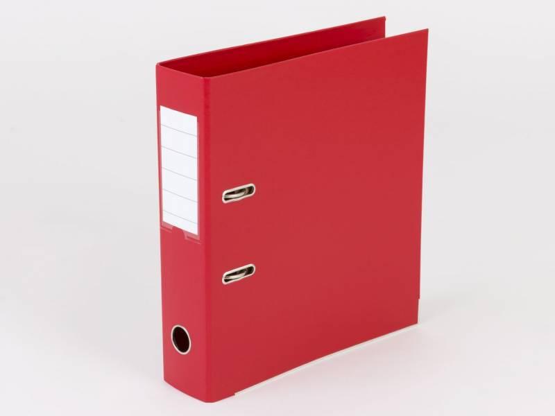 Billede af Brevordner Q-Line rød A4 metalskinne 75mm ryg