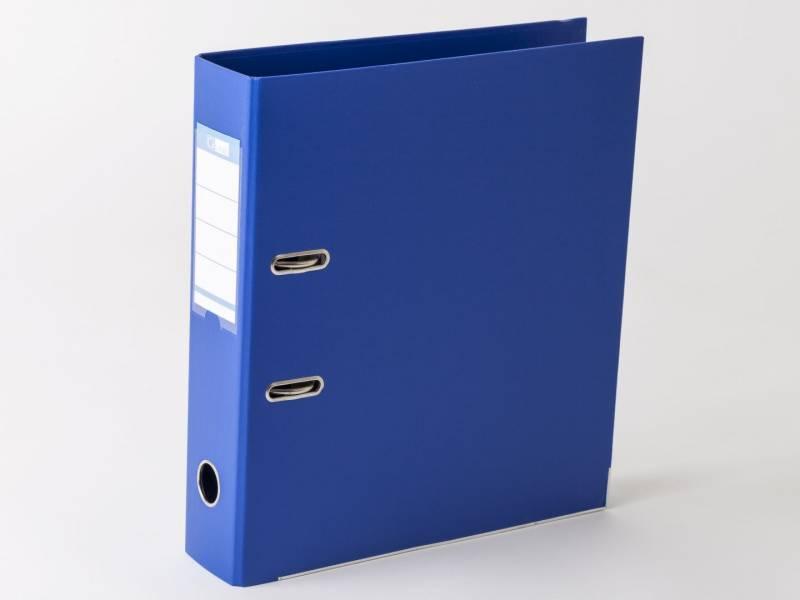 Brevordner Q-Line blå A4 metalskinne 75mm ryg