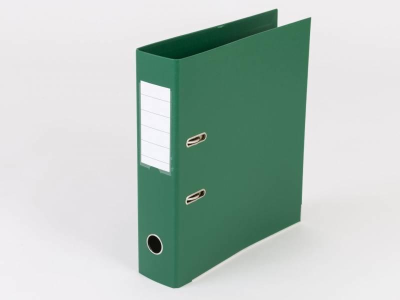 Billede af Brevordner Q-Line grøn A4 metalskinne 75mm ryg