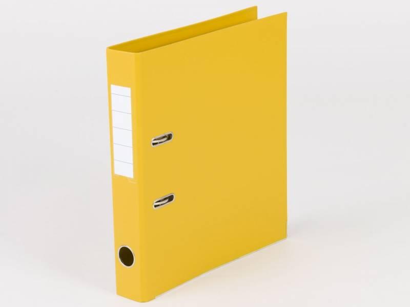 Billede af Brevordner Q-Line gul A4 metalskinne 50mm ryg