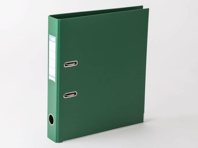 Billede af Brevordner Q-Line grøn A4 metalskinne 50mm ryg