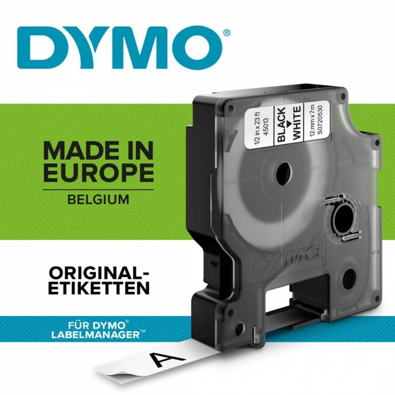 Image of   Labeltape DYMO D1 12mm sort på hvid