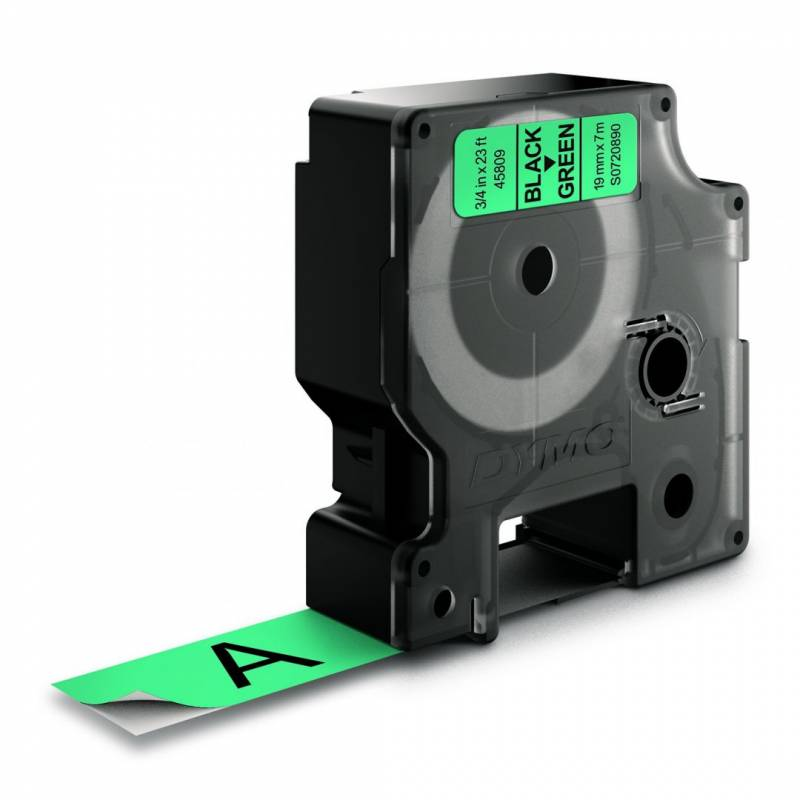 Image of   Labeltape DYMO D1 19mm sort på grøn