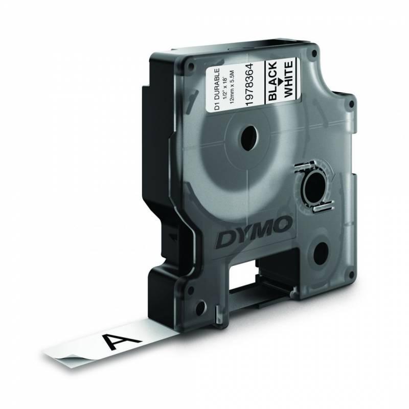 Image of   Labeltape Dymo D1 Durable ekstra stærk 12mmx5,5m sort på hvid