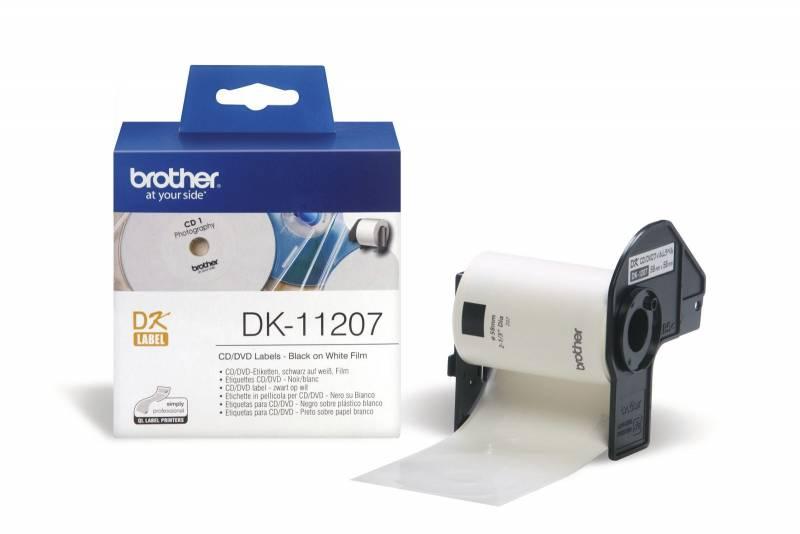 Image of   Label Brother CD/DVD plast Ø58 100stk/rul DK11207