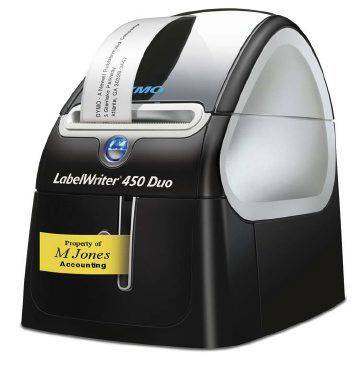 Image of   Etiketprinter DYMO LabelWriter 450 Duo USB+Serial D1 labels 6-24mm