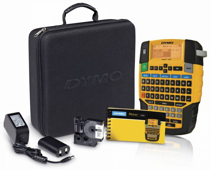 Image of   Labelprinter DYMO Rhino 4200 Proff. kit m/tilbehør