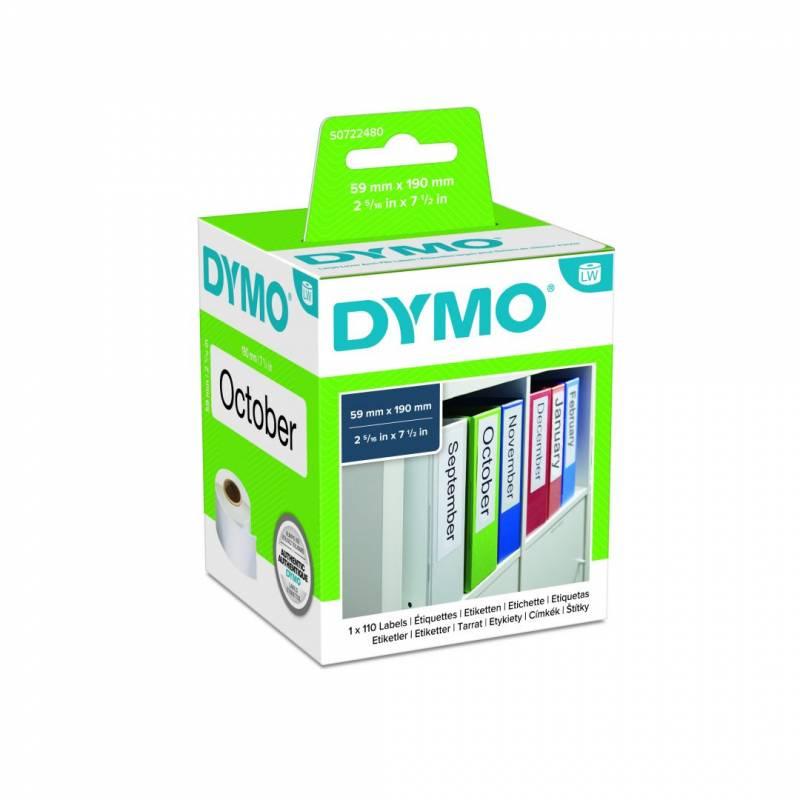 Image of   Etiketter X-store DYMO hvid 59x190mm 110stk/rul 99019