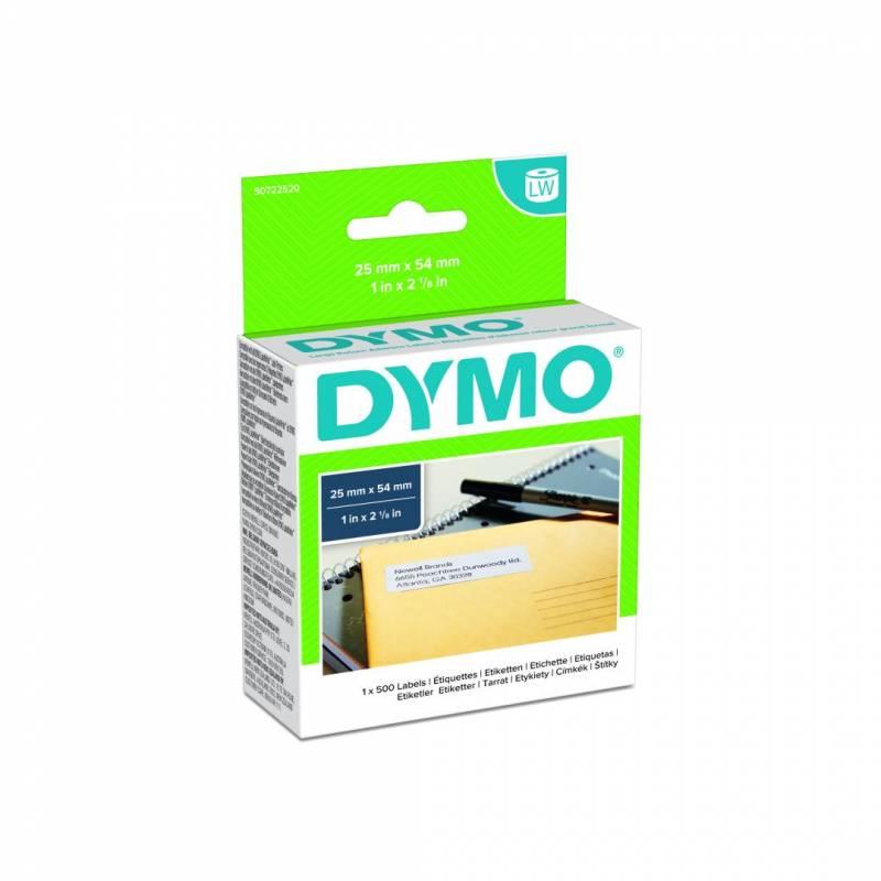 Image of   Etiketter returadresse DYMO hvide 25x54mm 500stk/rul 11352