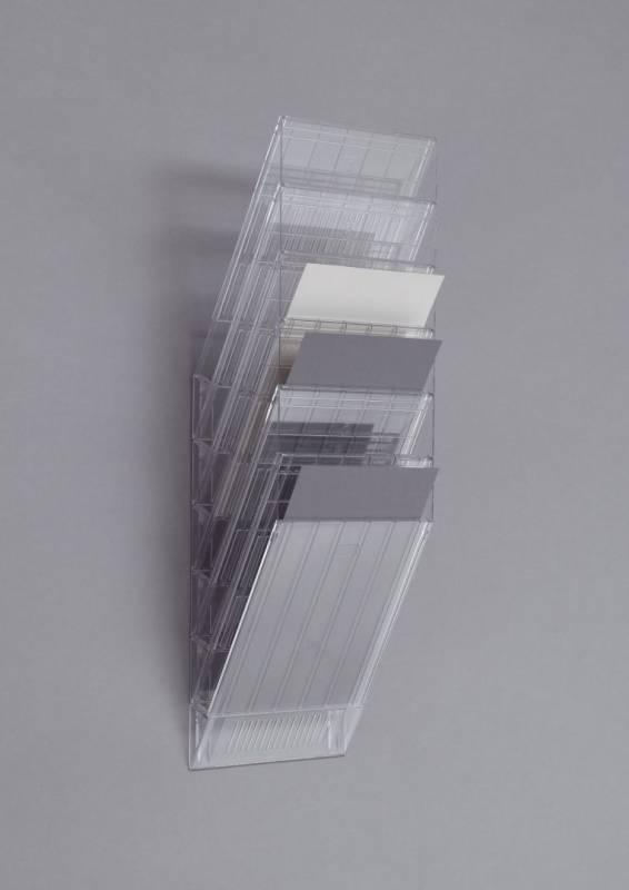 Brochureholder Flexiboxx A4 klar 6 fag stående t/væg