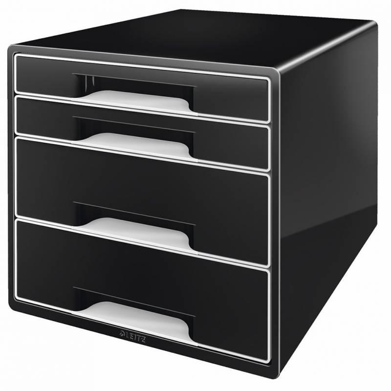 Image of   Skuffekabinet Leitz Desk Cube 4-skuffer sort