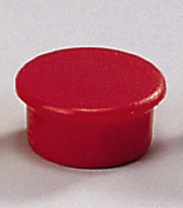 Image of   Magneter Dahle 13mm rund rød 10stk/pak bærekraft 0,1kg