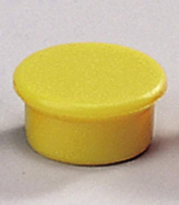 Image of   Magneter Dahle 13mm rund gul 10stk/pak bærekraft 0,1kg