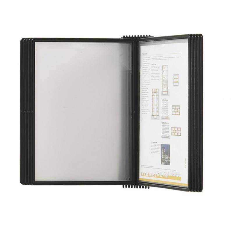 Registersystem A4 Easymount t/10 lommer sort vægmodel