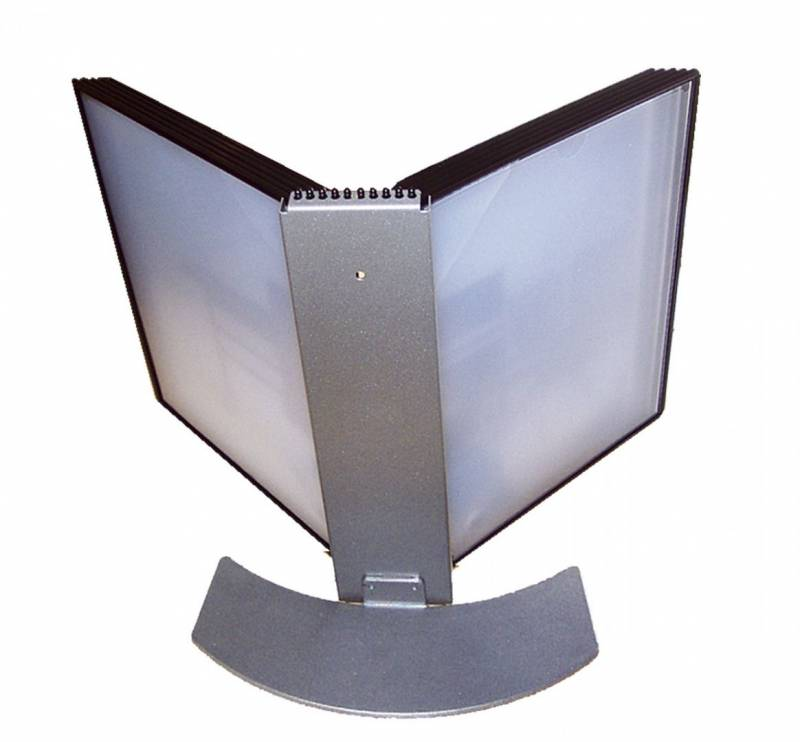 Registersystem A4 Easymount t/10 lommer sølv bordmodel