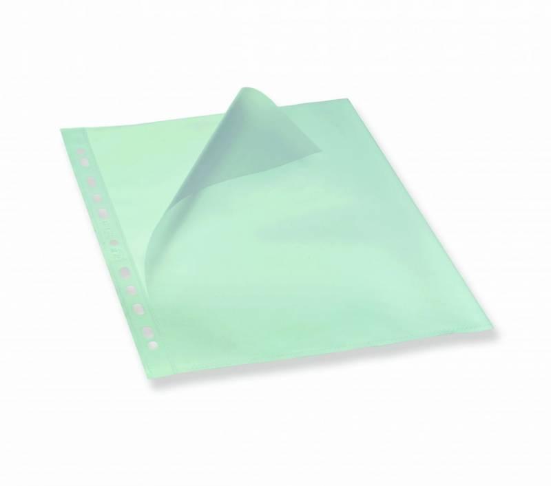 Billede af Plastlomme Bantex A4 0,12mm åben top/ven. præg 100stk/pak