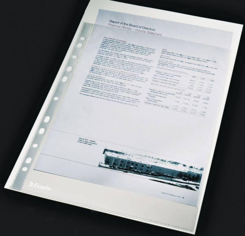 Billede af Plastlomme Esselte A4 0,105mm glasklar 100stk/pak