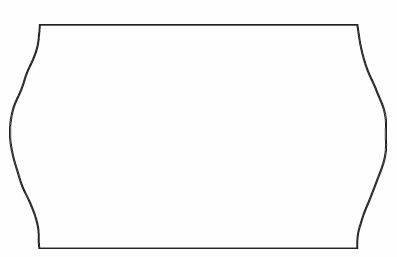 Etiket Meto 32x19mm hvid nonperm. lim 1 1000stk/rul