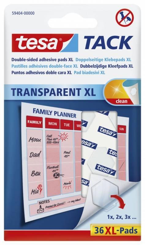 Image of   Brikker tesa Tack XL dobbeltklæbende transp. 36stk/pak