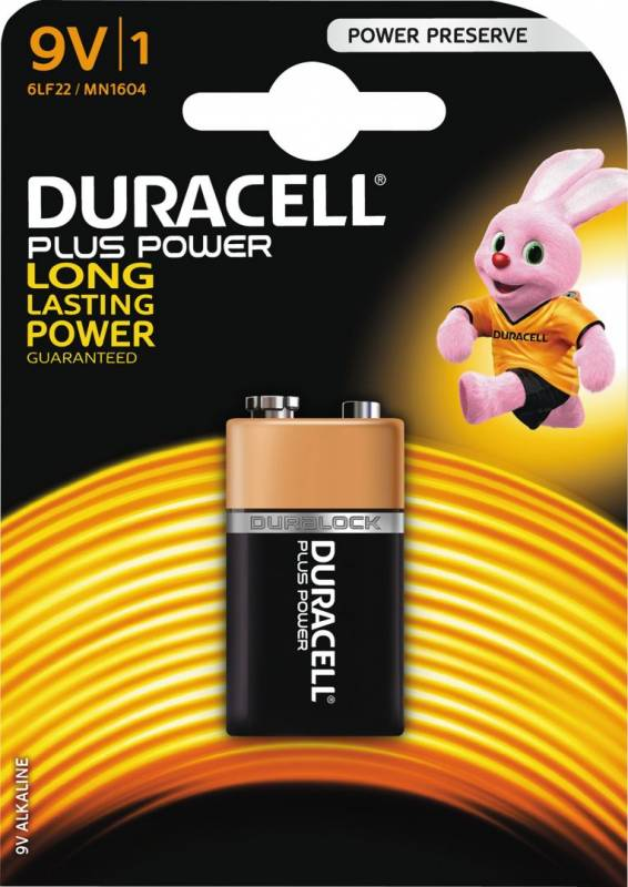 Image of   Batteri Duracell Plus Power 9V 1stk/pak