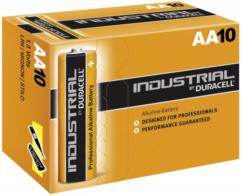 Image of   Batteri Duracell Industrial AA 10stk/pak
